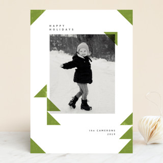 christmas triangles Holiday Photo Cards