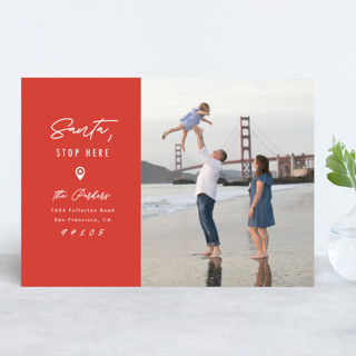 Santa Stop Here Holiday Photo Cards