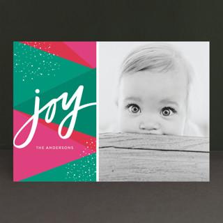 Bright Geo Joy Holiday Photo Cards