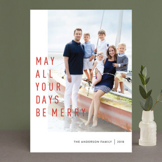 May They Be Merry Holiday Photo Cards