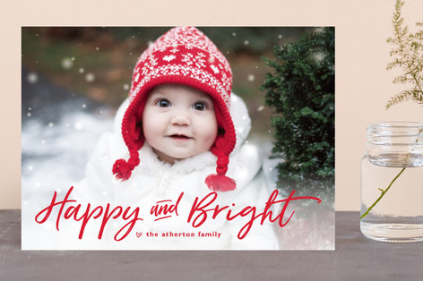 just merry and bright Holiday Photo Cards