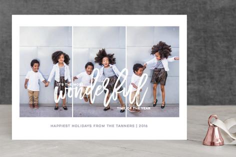 Wonderful Time Holiday Photo Cards