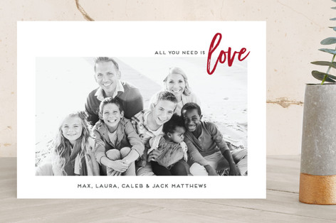 All Love Holiday Photo Cards
