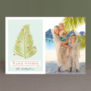 Tropical Tree Holiday Photo Cards
