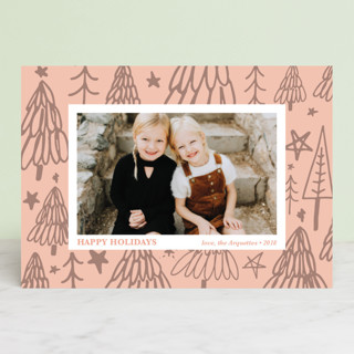 Christmas Tree Graffiti Holiday Photo Cards