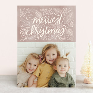 Soft Sentiment Holiday Photo Cards