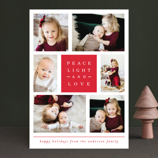 merry happy and bright Holiday Photo Cards