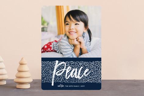 Peace Dots Holiday Photo Cards
