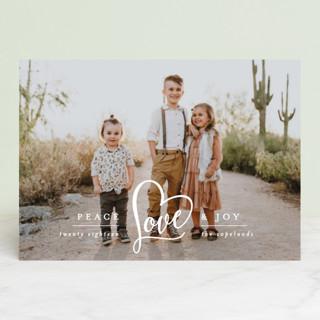 Peace Heart & Joy Holiday Photo Cards
