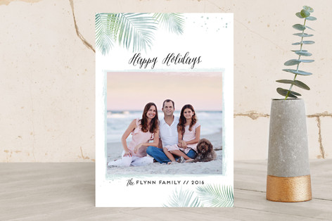 Sunny Christmas Holiday Photo Cards