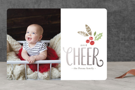 Modern Cheer Holiday Photo Cards