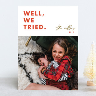 we tried Holiday Photo Cards