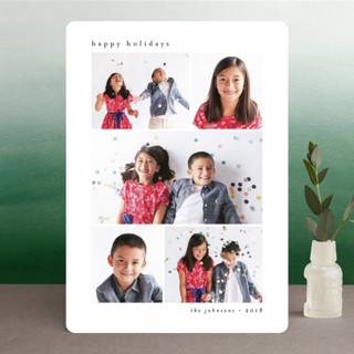 Minimal Grid Holiday Photo Cards