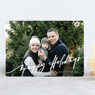 brushed holiday Holiday Photo Cards