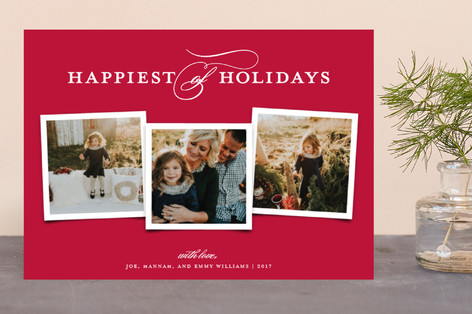 Elegant Trio Holiday Photo Cards