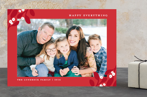 Wrapped In Mistletoe Holiday Photo Cards
