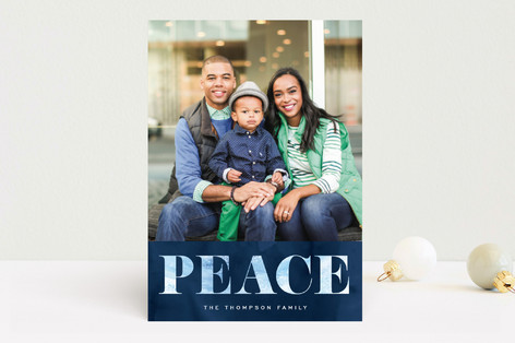Peace of Winter Holiday Photo Cards