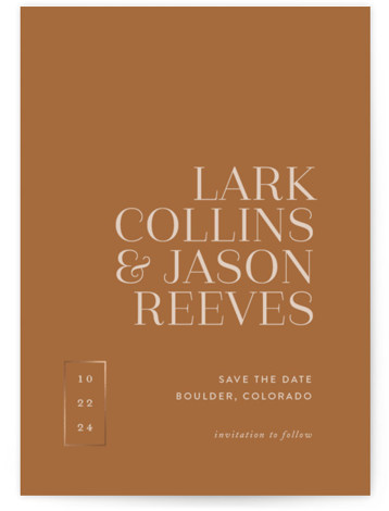 Bold Move Foil-Pressed Save The Date Cards