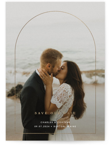 Through Foil-Pressed Save The Date Cards