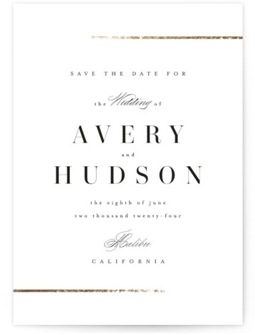 Avenue Foil-Pressed Save The Date Cards
