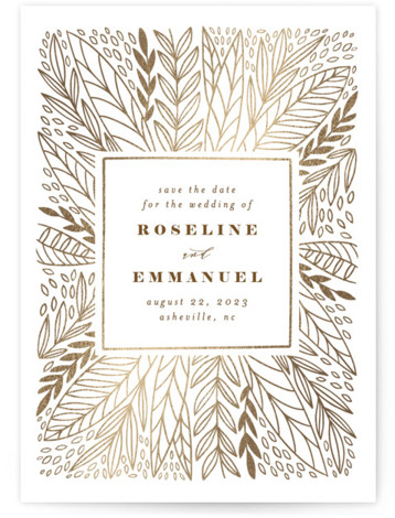 Enchanted Foil-Pressed Save The Date Cards