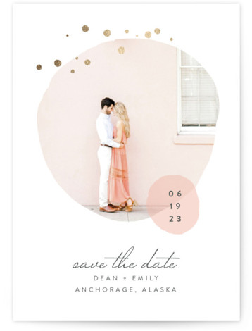 Dotted Foil-Pressed Save The Date Cards