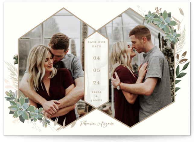 Intertwined Foil-Pressed Save The Date Cards