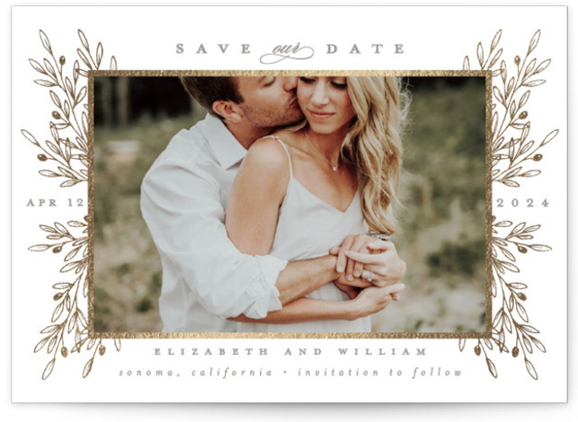 Valley Foil-Pressed Save The Date Cards
