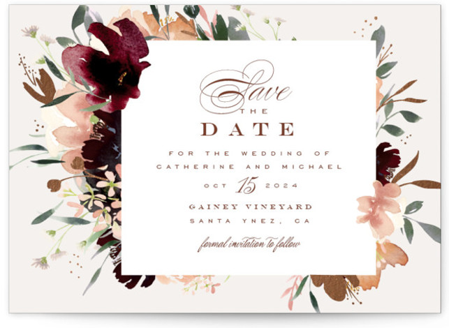 harvest Foil-Pressed Save The Date Cards