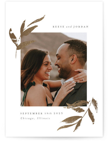 Redwood Foil-Pressed Save The Date Cards