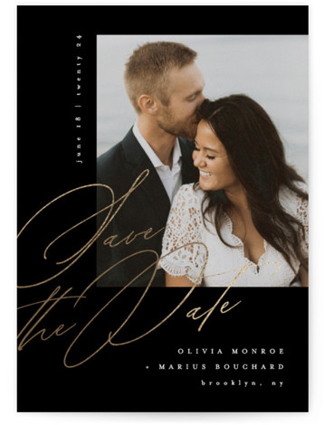 Delancey Foil-Pressed Save The Date Cards