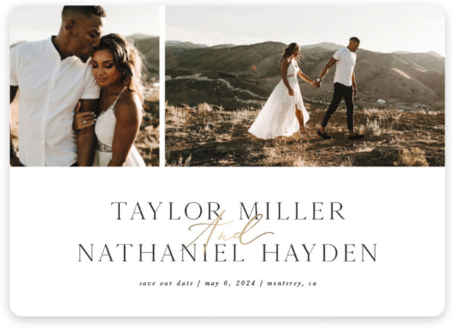 SYNCED Foil-Pressed Save The Date Cards