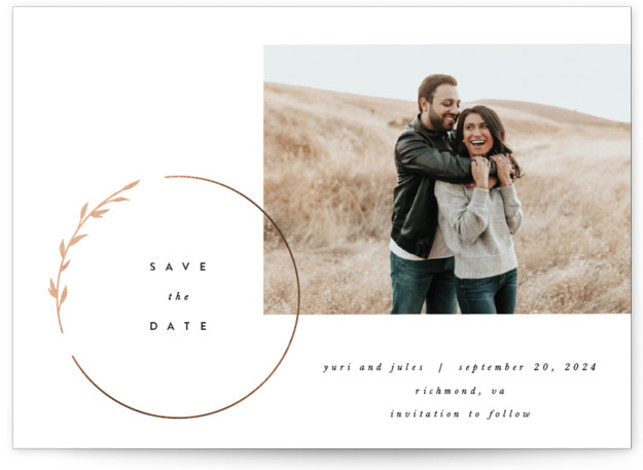 buttercream Foil-Pressed Save The Date Cards