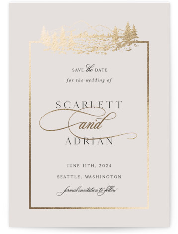 Royal Foil-Pressed Save The Date Cards