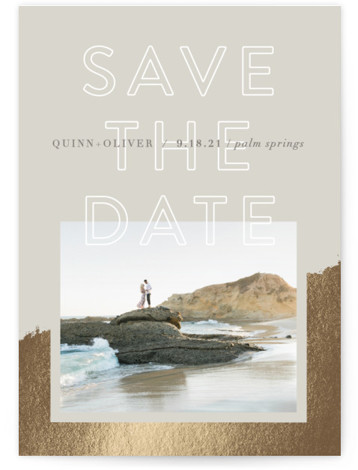 Palm Springs Foil-Pressed Save The Date Cards
