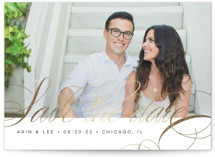 Fancy Foil-Pressed Save The Date Cards