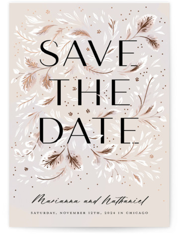 Love in Bloom Foil-Pressed Save The Date Cards