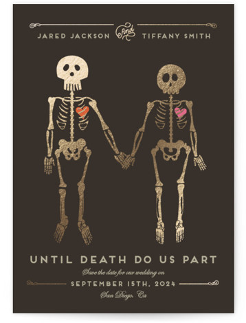 Until Death Foil-Pressed Save The Date Cards