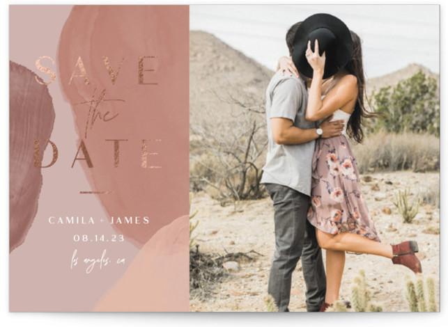 organica Foil-Pressed Save The Date Cards