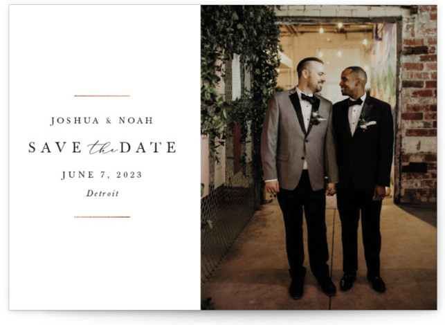 Noble Foil-Pressed Save The Date Cards