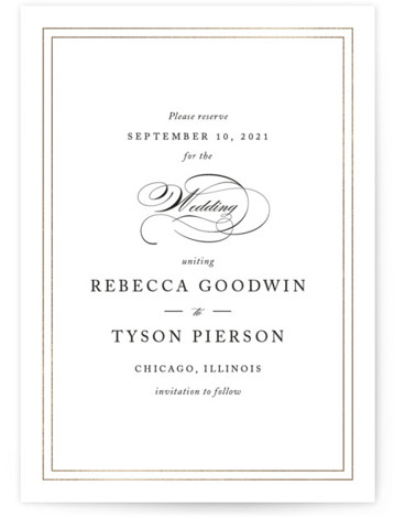 Eloquence Foil-Pressed Save The Date Cards