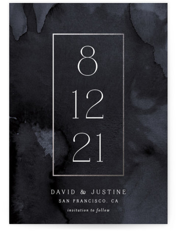 Modernized Foil-Pressed Save The Date Cards