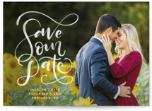 Brushed Save the Date Petite Cards