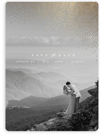 Mist Foil-Pressed Save The Date Magnets