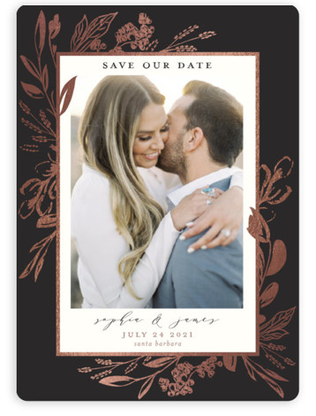 Our Day Foil-Pressed Save The Date Magnets