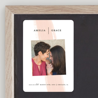 Single Swath Save The Date Magnets