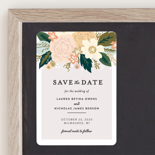 Classic Floral Save The Date Magnets