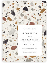 Terrazzo Save The Date Magnets