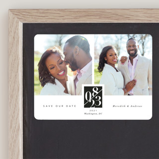 classic love story Save The Date Magnets