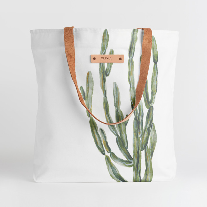 Simple Cacti Snap Tote